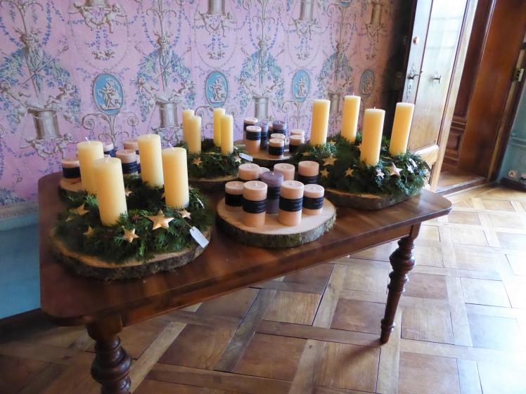 Adventskranz Kerzen