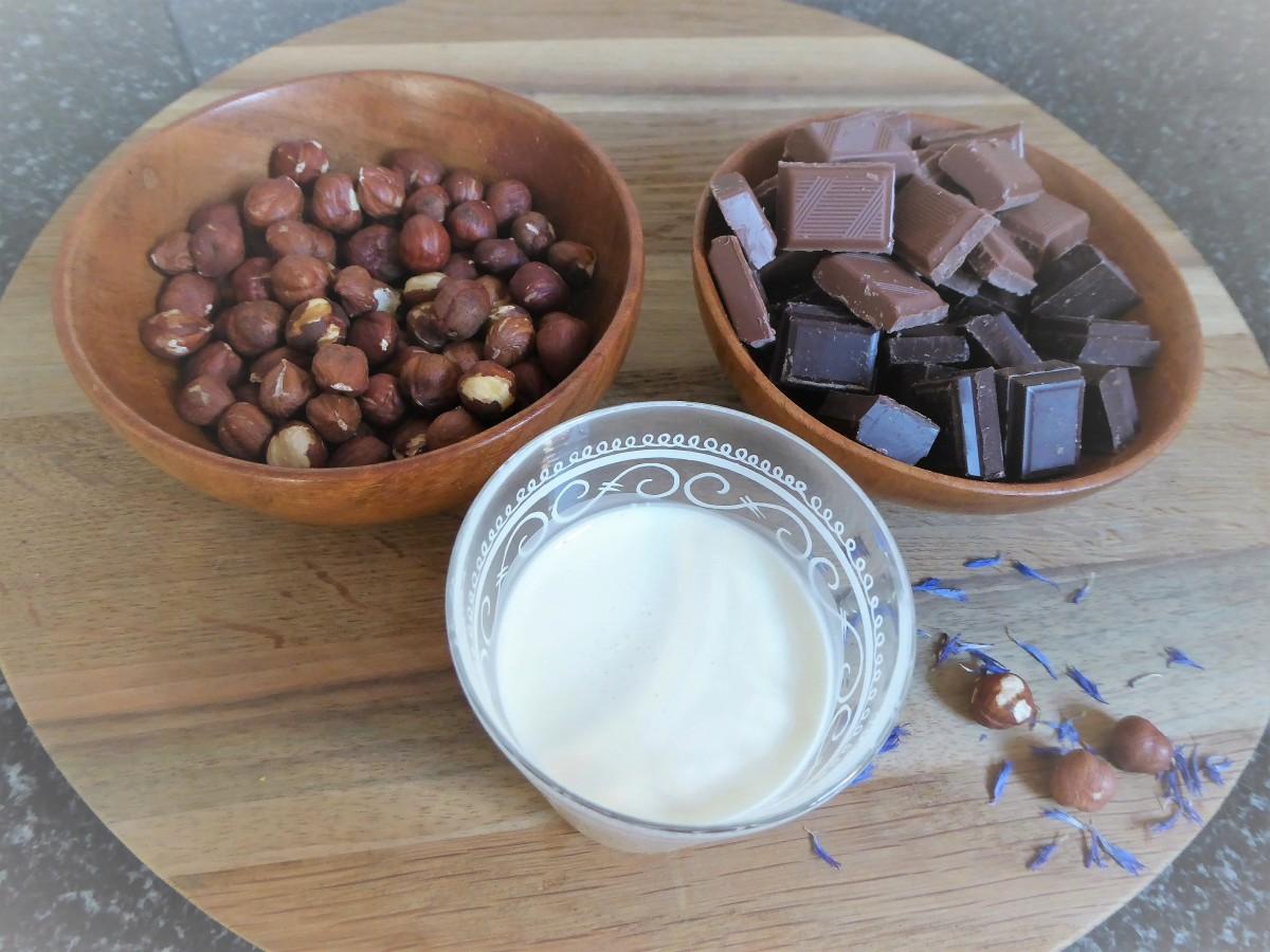 Schokolade-Haselnuss-Aufstrich.