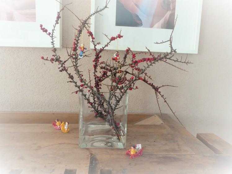 Vase. Weihnachtsdekoration. Christbaumschmuck.