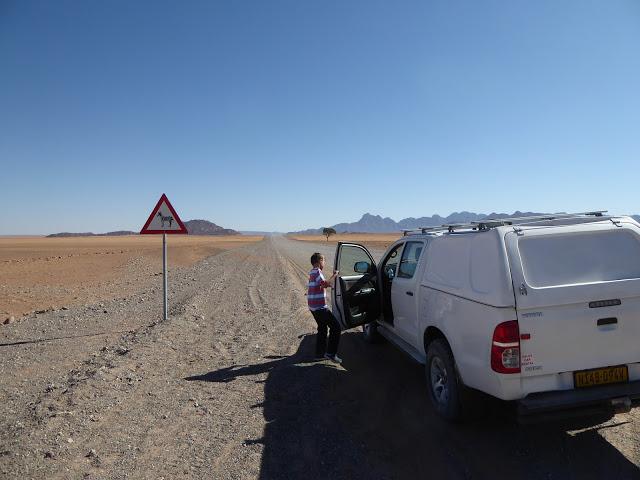 Namibia Schotterstrasse