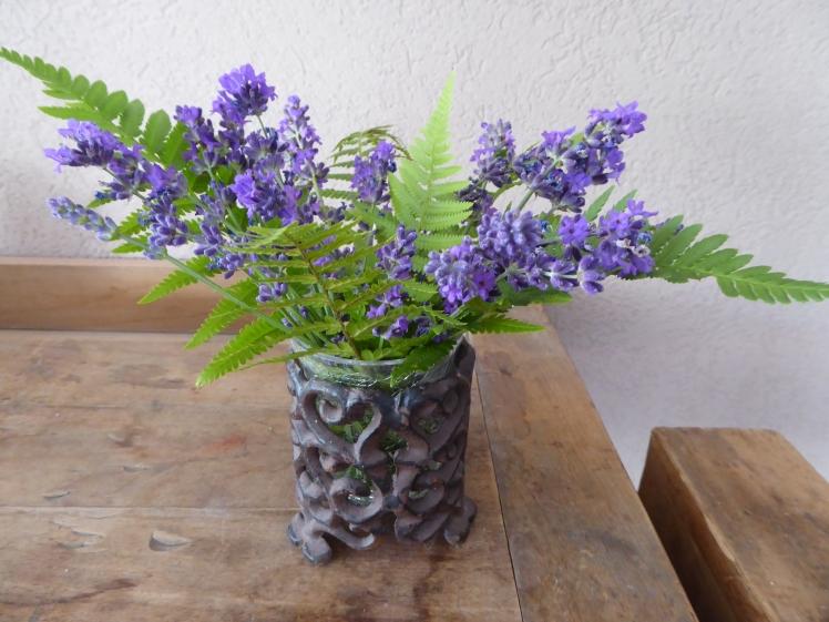 Lavendel und Farn
