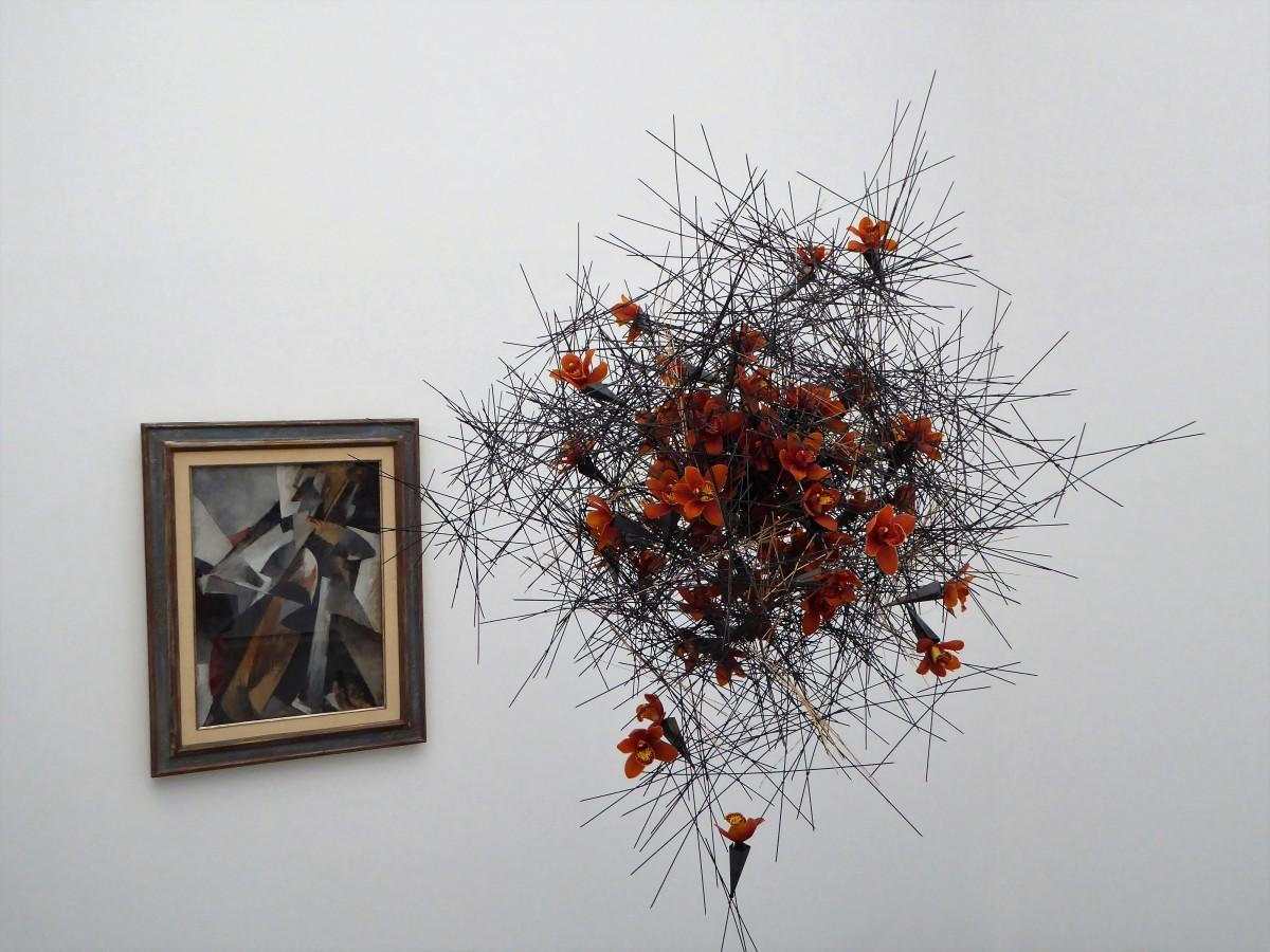 Kunst + Blumen = Blumen für die Kunst.