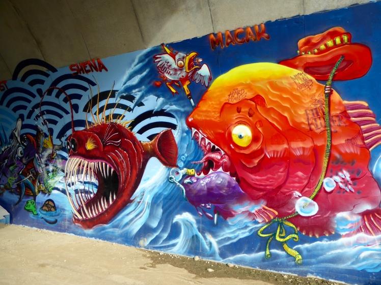 Graffiti Rhoneradweg